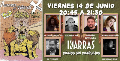 Karras Comics panel in June 2019